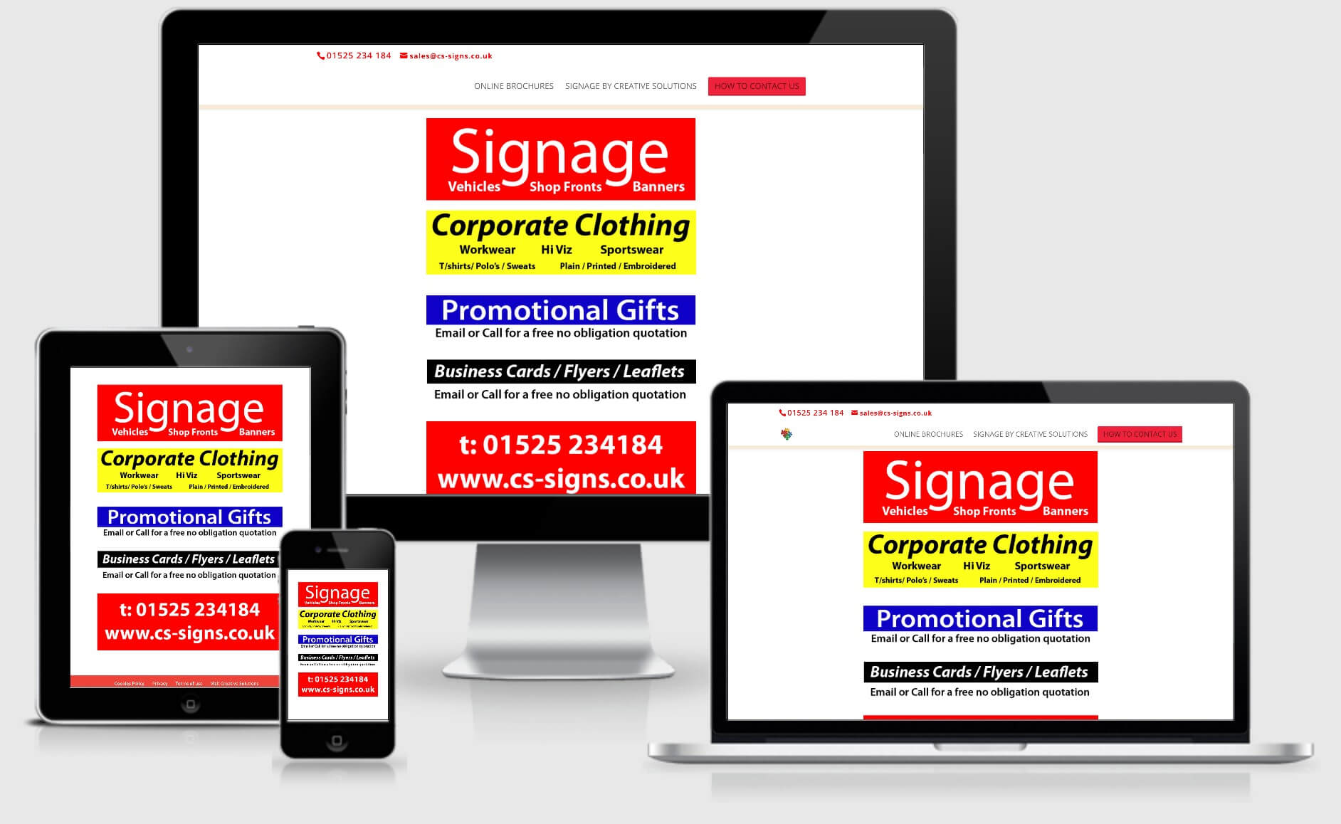 C S Signs multi-device views
