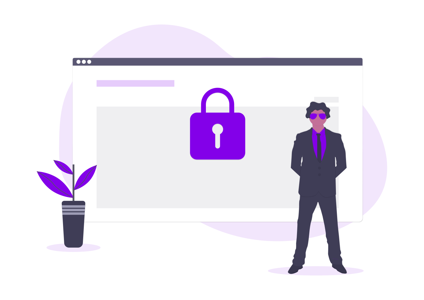 Website security graphic